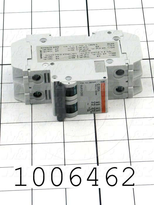 Circuit Breaker, 2 Poles, 20A, 240VAC, C Curve, UL 489 Listed