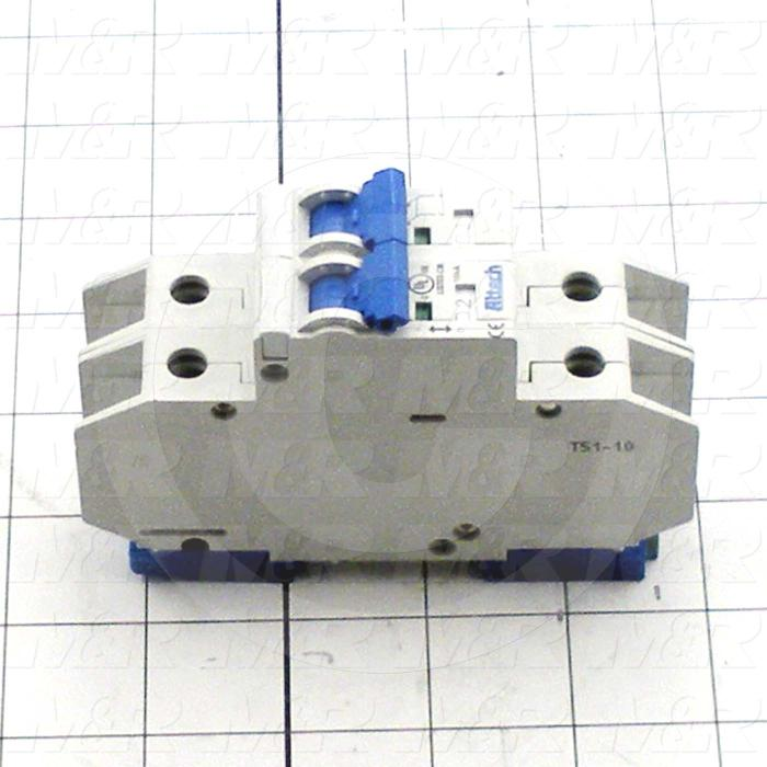 Circuit Breaker, 2 Poles, 2A, 240VAC, K Curve, UL 489 Listed