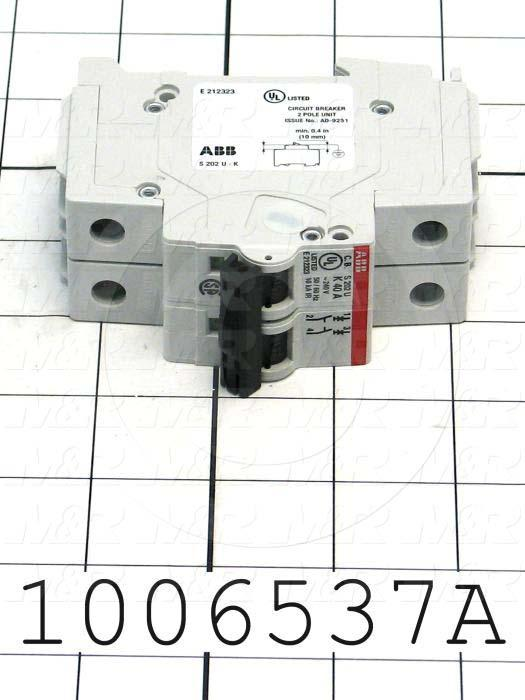 Circuit Breaker, 2 Poles, 40A, 240VAC, K Curve, UL 489 Listed