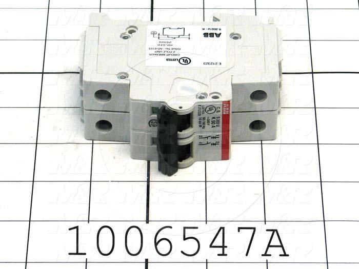 Circuit Breaker, 2 Poles, 50A, 240VAC, K Curve, UL 489 Listed