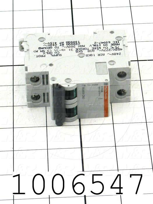 Circuit Breaker, 2 Poles, 50A, 480VAC, D Curve, UL 1077
