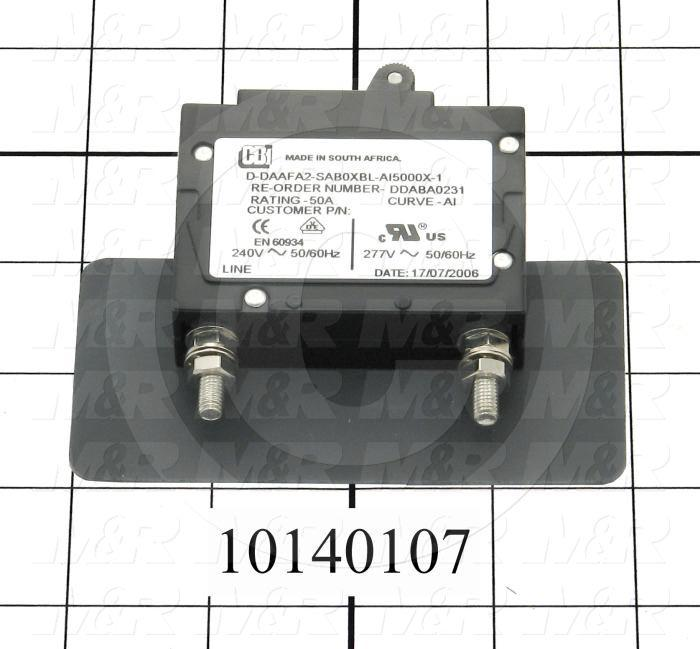 Circuit Breaker, 2 Poles, 50A, Slow Trip, UL 489 Listed
