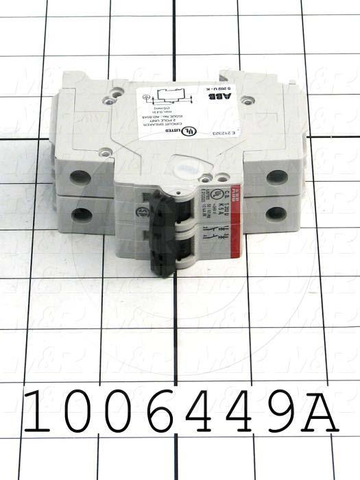 Circuit Breaker, 2 Poles, 5A, 240VAC, K Curve, UL 489 Listed