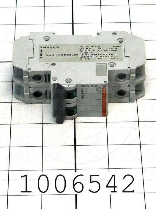 Circuit Breaker, 2 Poles, 6A, 240VAC, D Curve, UL 489 Listed