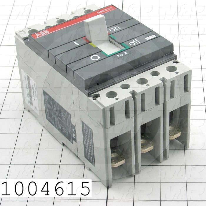Circuit Breaker, 2 Poles, 70A, 480VAC
