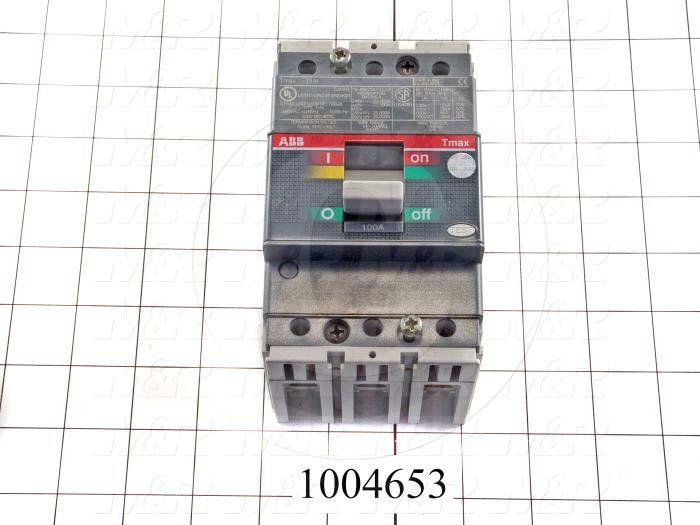 Circuit Breaker, 3 Poles, 100A, 480VAC