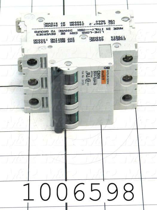 Circuit Breaker, 3 Poles, 10A, 480VAC, D Curve, UL 1077