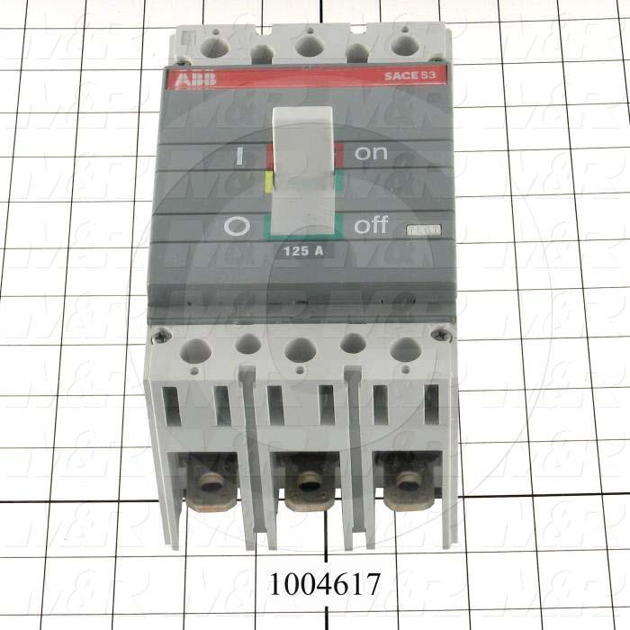 Circuit Breaker, 3 Poles, 125A, 480VAC