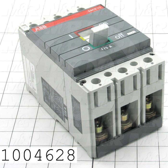 Circuit Breaker, 3 Poles, 175A, 240VAC