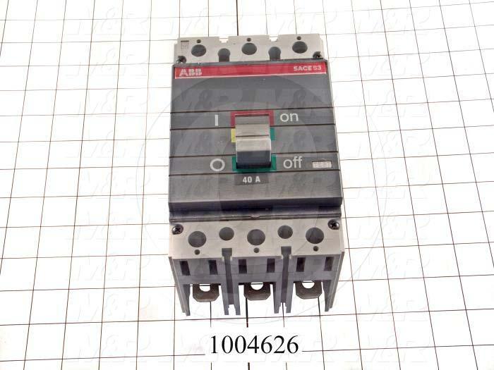 Circuit Breaker, 3 Poles, 40A, 600VAC