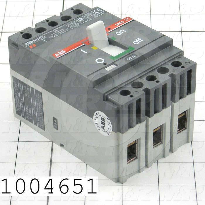 Circuit Breaker, 3 Poles, 50A, 480VAC