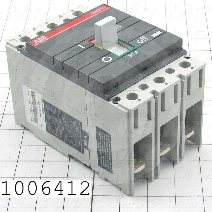 Circuit Breaker, 3 Poles, 50A, 600VAC