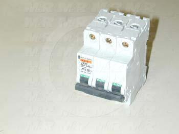 Circuit Breaker, 3 Poles, 63A, 480VAC, B Curve, UL 1077