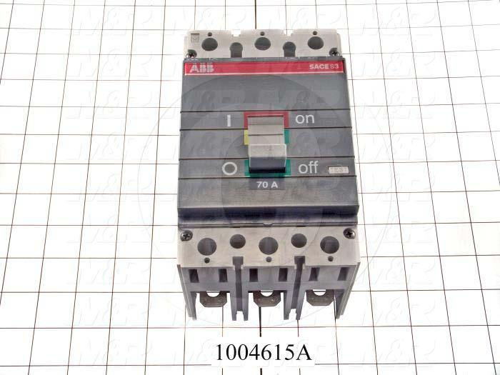 Circuit Breaker, 3 Poles, 70A, 600VAC