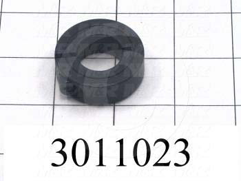 "Collar, One-Piece Clamp-On Type, 0.75"" Bore Size, 1.75"" Outside Diameter, 0.500"" Width, Steel"