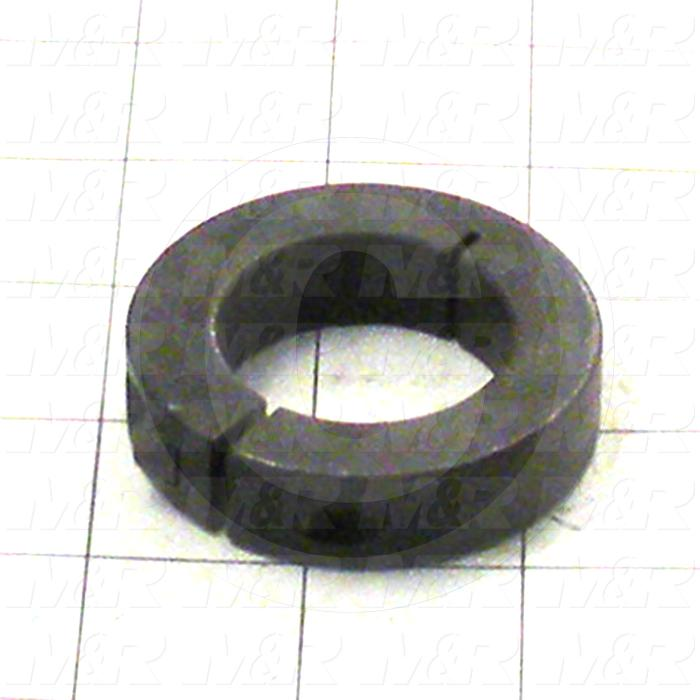 "Collar, One-Piece Clamp-On Type, 1.44"" Bore Size, 2.375"" Outside Diameter, 0.500"" Width, Steel"