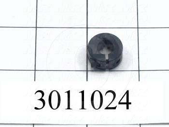 "Collar, One-Piece Clamp-On Type, 5/16"" Bore Size, 0.813 in. Outside Diameter, 0.312"" Width, Steel"