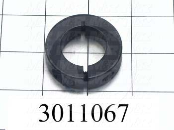 "Collar, Two-Piece Clamp-On Low Profile Type, 1.00"" Bore Size, 1.75"" Outside Diameter, 0.500"" Width, Steel, Finish Black Oxide"