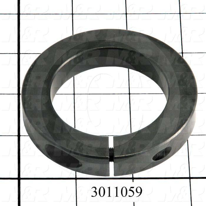 "Collar, Two-Piece Clamp-On Low Profile Type, 2.94"" Bore Size, 4.250"" Outside Diameter, 0.88 in. Width, Steel, Finish Black Oxide"