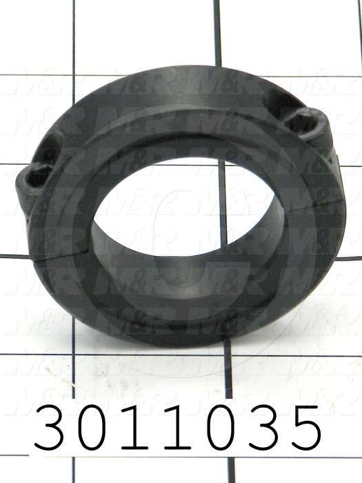 Collar two piece clamp on type quot bore