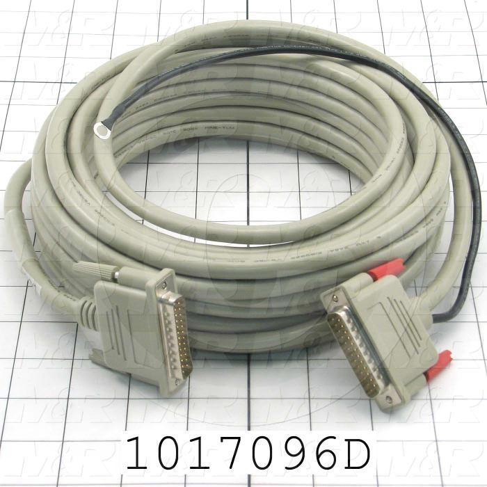 Communication Cable, 25', Male DB25, To Male DB25