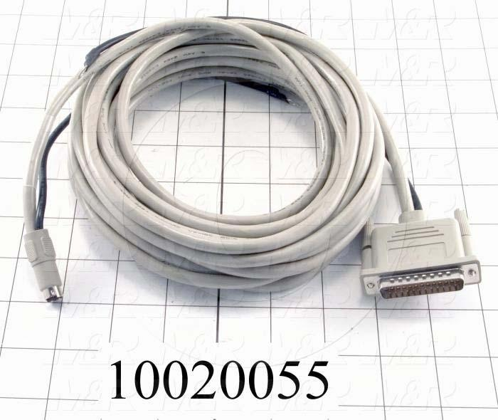 Communication Cable, 7m, DB25, To Mini-Din8