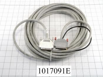 Communication Cable, MINI DIN 8, 10m, Male DB25, To Male DB25, Use Between HMI E Series and PLC A / FX Series