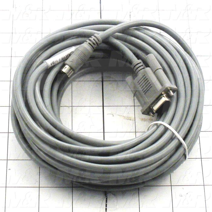 Communication Cable, MINI DIN 8, 10m, Q170M, Amplifier, Use Between HMI E Series and PLC Q Series