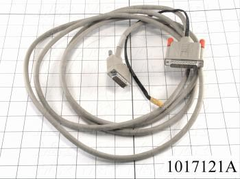 Communication Cable, MINI DIN 8, 15FT, Male DB25, To Male DB15, Use Between HMI MTA-250/G1 and PLC A Series