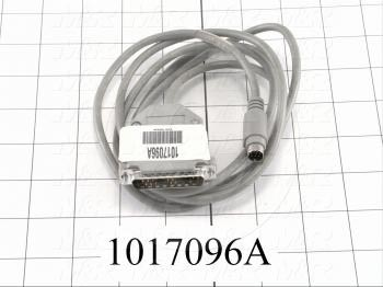 Communication Cable, MINI DIN 8, 15FT, Male DB25, To Mini-Din8, Use Between HMI E Series and PLC FX Series