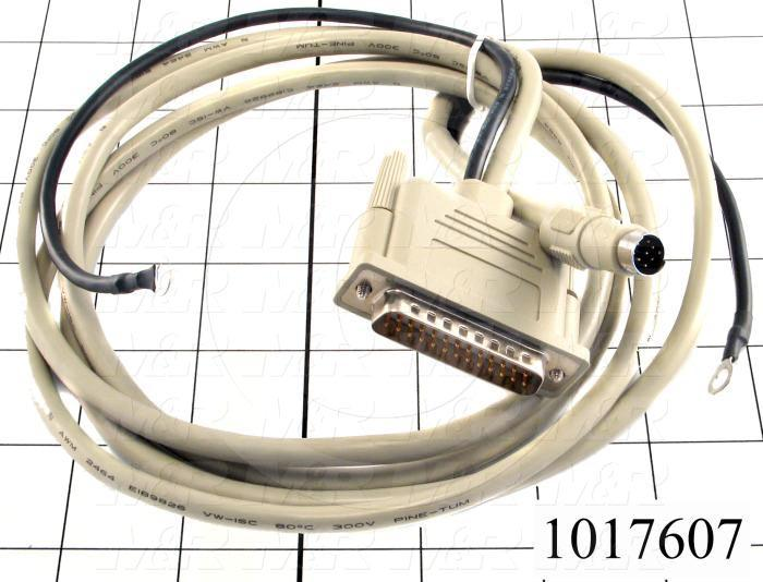 Communication Cable, MINI DIN 8, 2m, Male DB25, To Mini-Din8