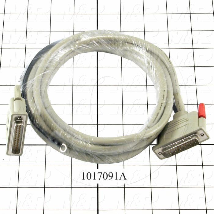 Communication Cable, MINI DIN 8, 3m, Male DB25, To Male DB25, Use Between HMI E Series and PLC A Series