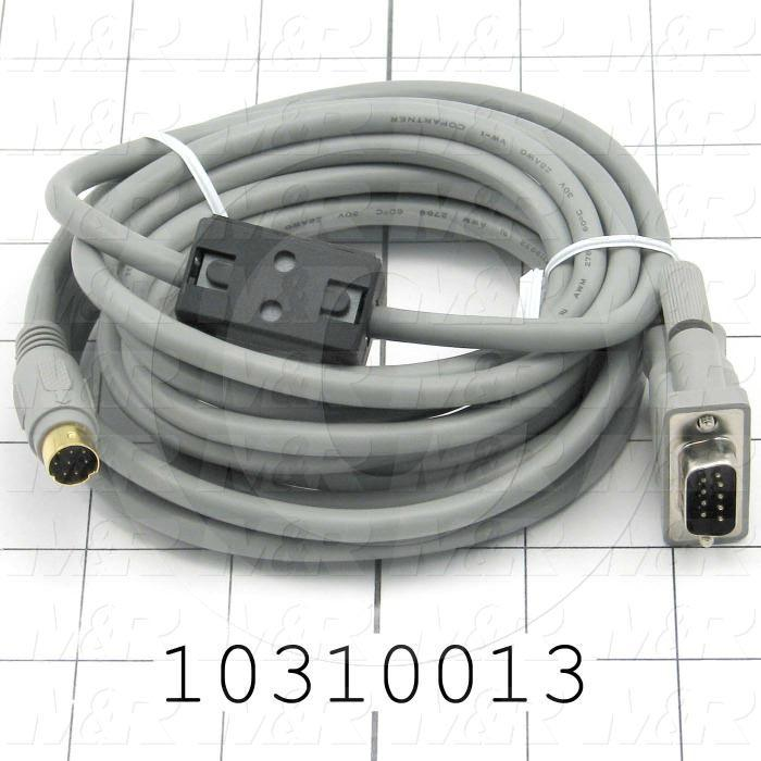 Communication Cable, MINI DIN 8, 3m, Male DB9, To Mini-Din8