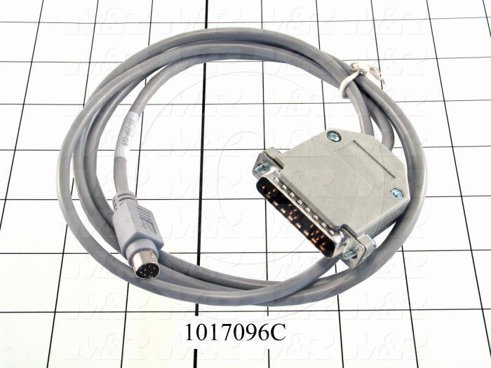 Communication Cable, MINI DIN 8, Short, Male DB25, To Mini-Din8, Use Between HMI E Series and PLC FX Series