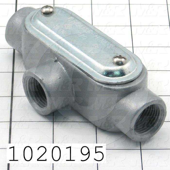 Conduit Fitting, Outlet, Type T, Threaded, 1/2""