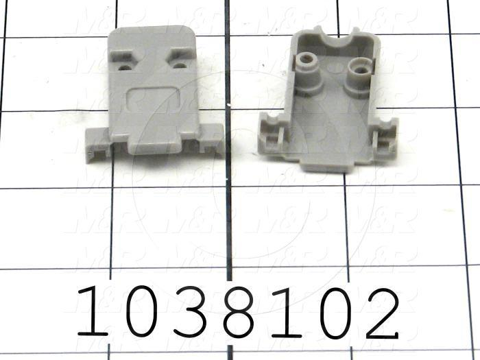 Connector Cover, Backshell, DB-9 Connectors