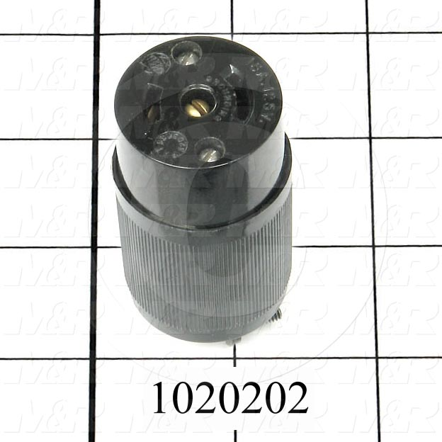 Connector for Power, Male Plug, 2 Poles, 3 Wires, 125V, 15A