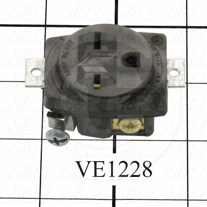 Connector for Power, Receptacle, 240V, 15A