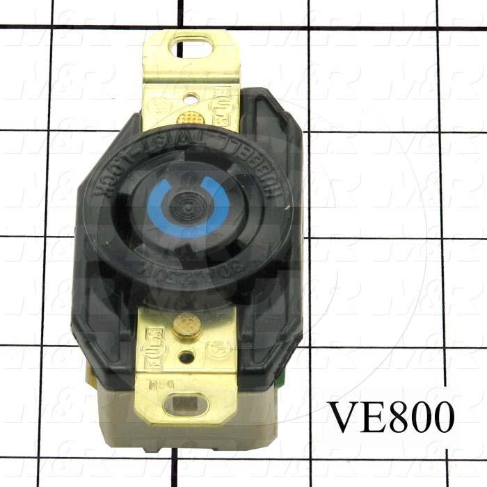 Connector for Power, Receptacle, 250V, 30A