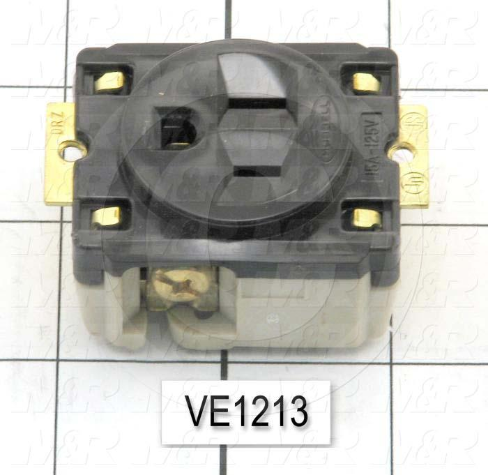 Connector for Power, Receptacle, 3 Poles, 120V