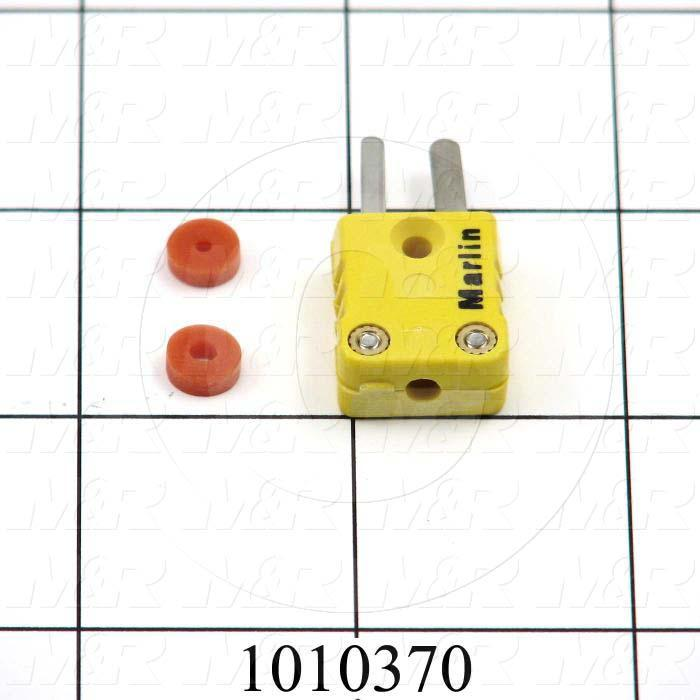 Connector for Thermocouple, Type K, Male