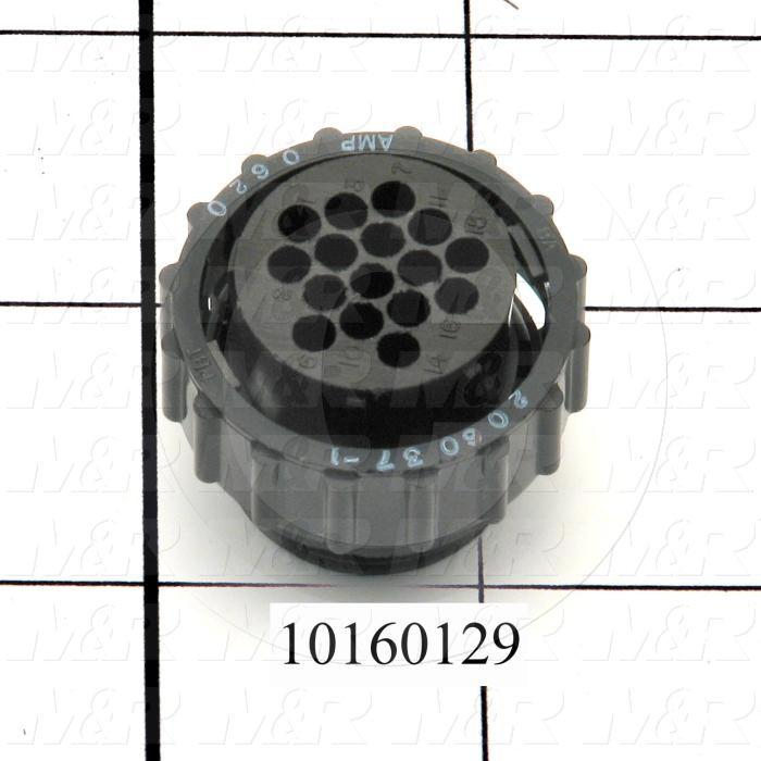 Connector, HARAX, Female, 16-Contact, TWISTLOCK Terminal, 5.08MM, 400VAC, 15A, Size 17