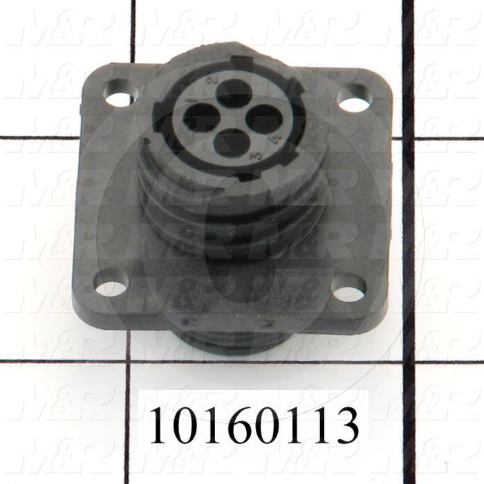 Connector, HARAX, Female, 4-Contact, TWISTLOCK Terminal, 5.08MM, 400VAC, 15A