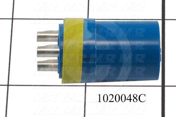 Connector, HARAX, Female, 4-Socket, TWISTLOCK Terminal, 5.08MM