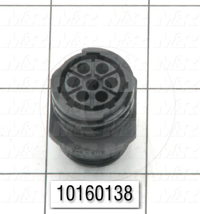 Connector, HARAX, Female, 7-Contact, TWISTLOCK Terminal, 5.08MM, 400VAC, 15A, Size 13