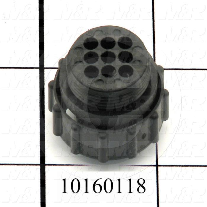 Connector, HARAX, Female, 9-Contact, TWISTLOCK Terminal, 5.08MM, 400VAC, 15A