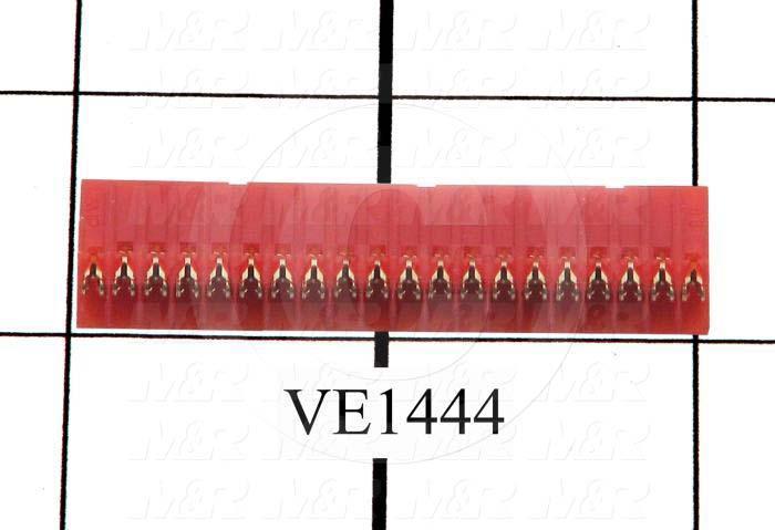 Connector, HARAX, Female Socket, 20-Contact, TWISTLOCK Terminal, 5.08MM, 400VAC, 15A