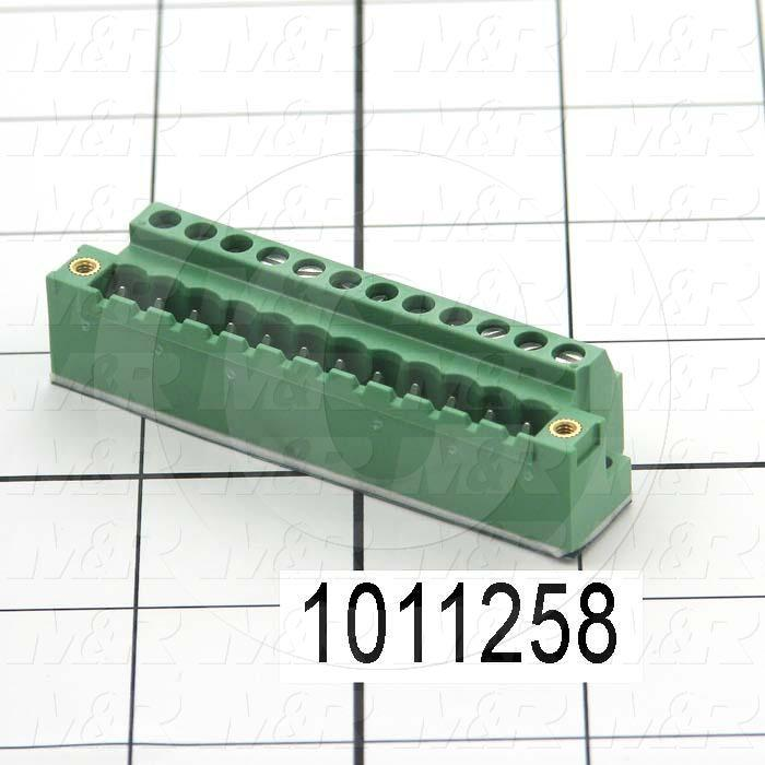 Connector, Header Mini-Din, Male, 12-Contact, TWISTLOCK Terminal, 5.08MM, 400VAC, 15A