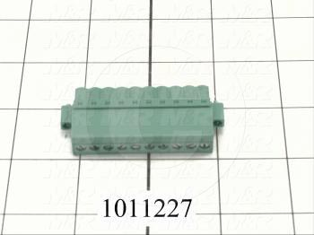 Connector, Plug, 10-Contact, Screw Terminal, 5.08MM, 250V, 12A - Details