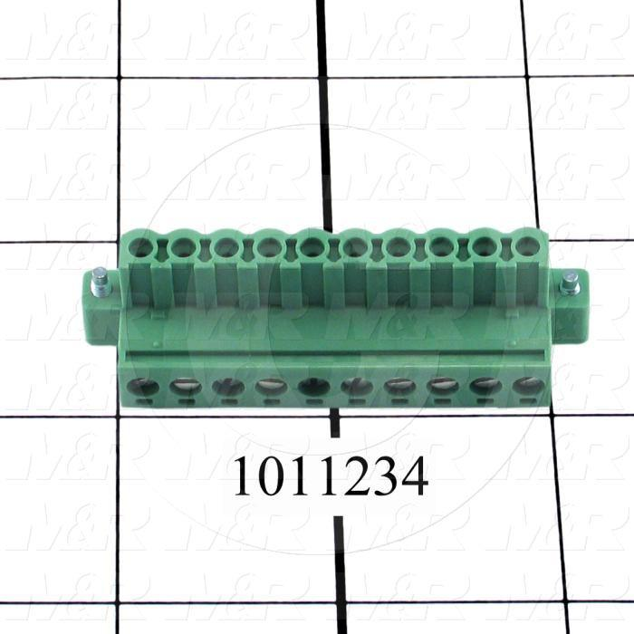 Connector, Plug, Female, 10-Contact, TWISTLOCK Terminal, 5.08MM, 250V, 12A - Details